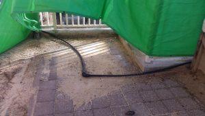 צינור מים בגן סביון